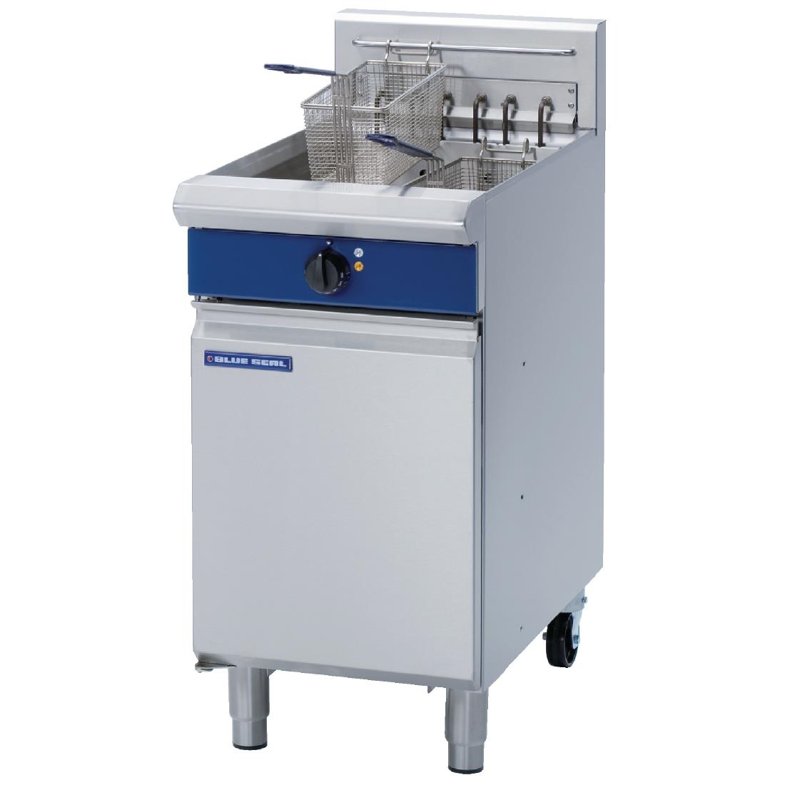 Blue Seal Single Tank Twin Basket Free Standing Electric Fryer E43