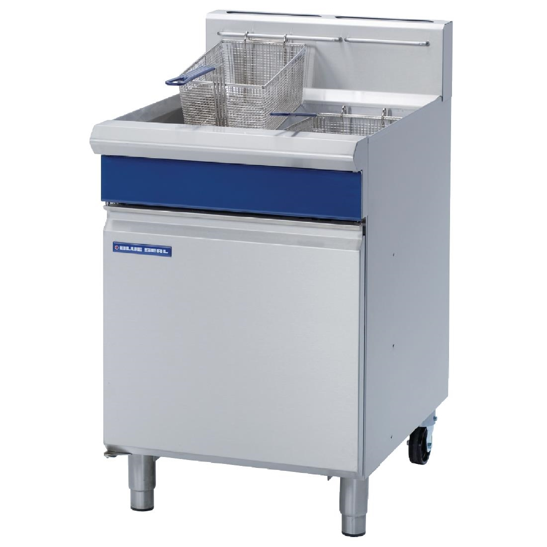 Blue Seal Single Tank Twin Basket Free Standing Natural Gas Fryer GT60