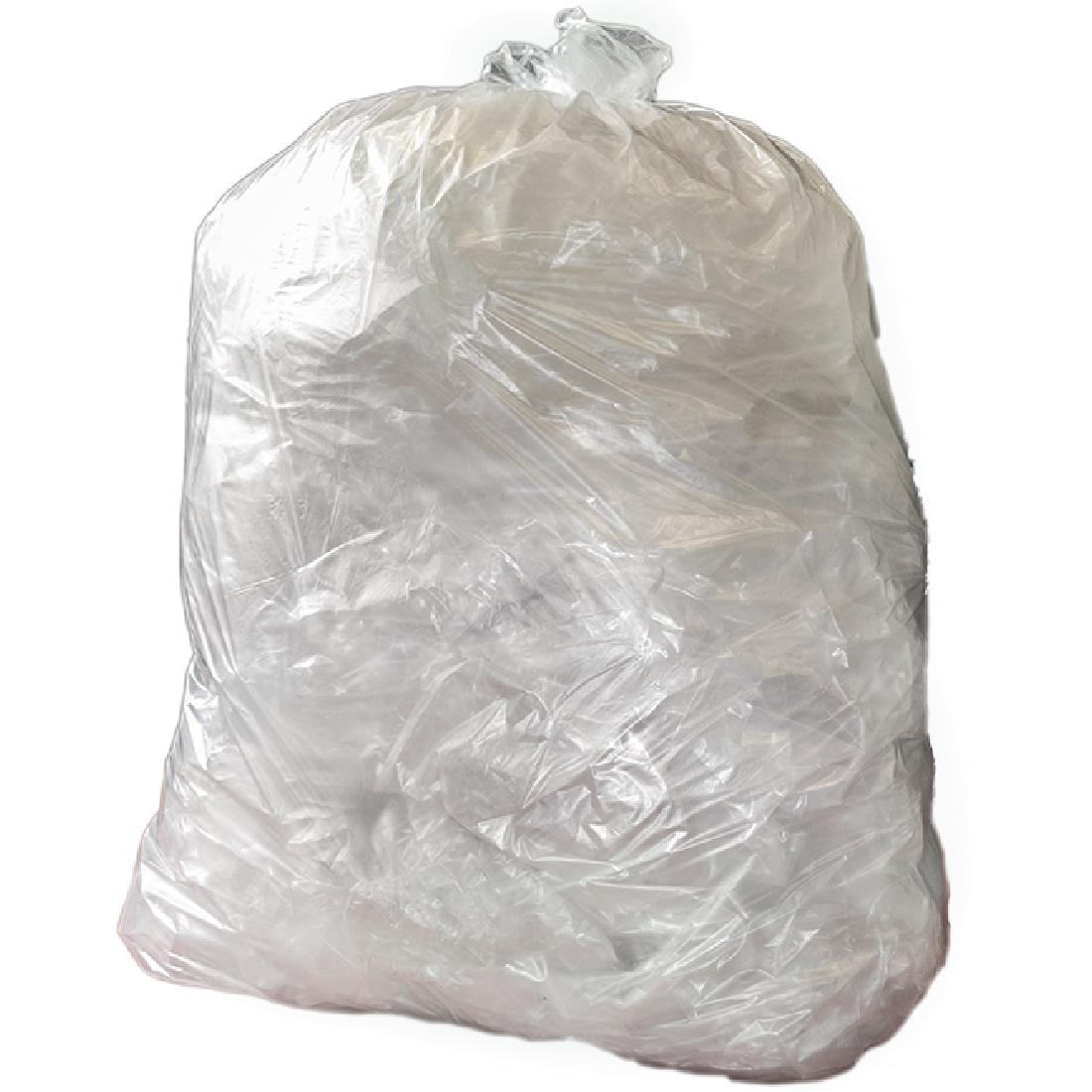 Image of Jantex Large Medium Duty Clear Bin Bags 90Ltr (Pack of 200) Pack of 200