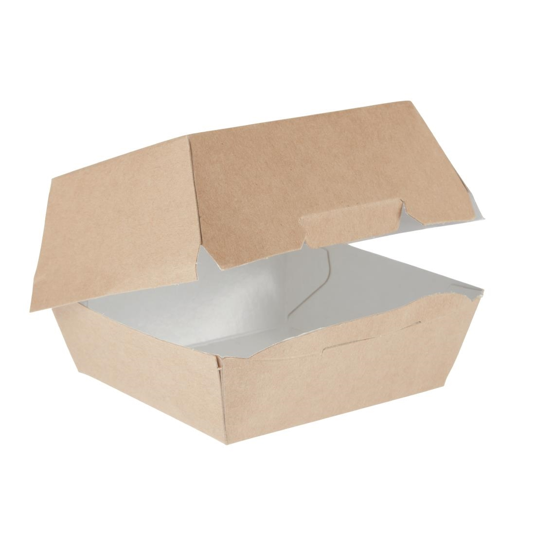 Image of Colpac Compostable Kraft Burger Boxes Small 108mm (Pack of 250) Pack of 250