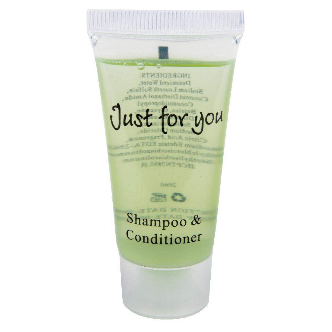 Image of Just For You Shampoo and Conditioner 20ml (Pack of 500) Pack of 500