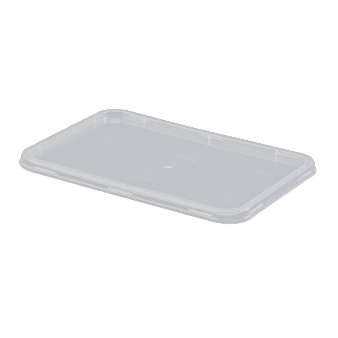 Rectangle Plastic Container Lid Box 500