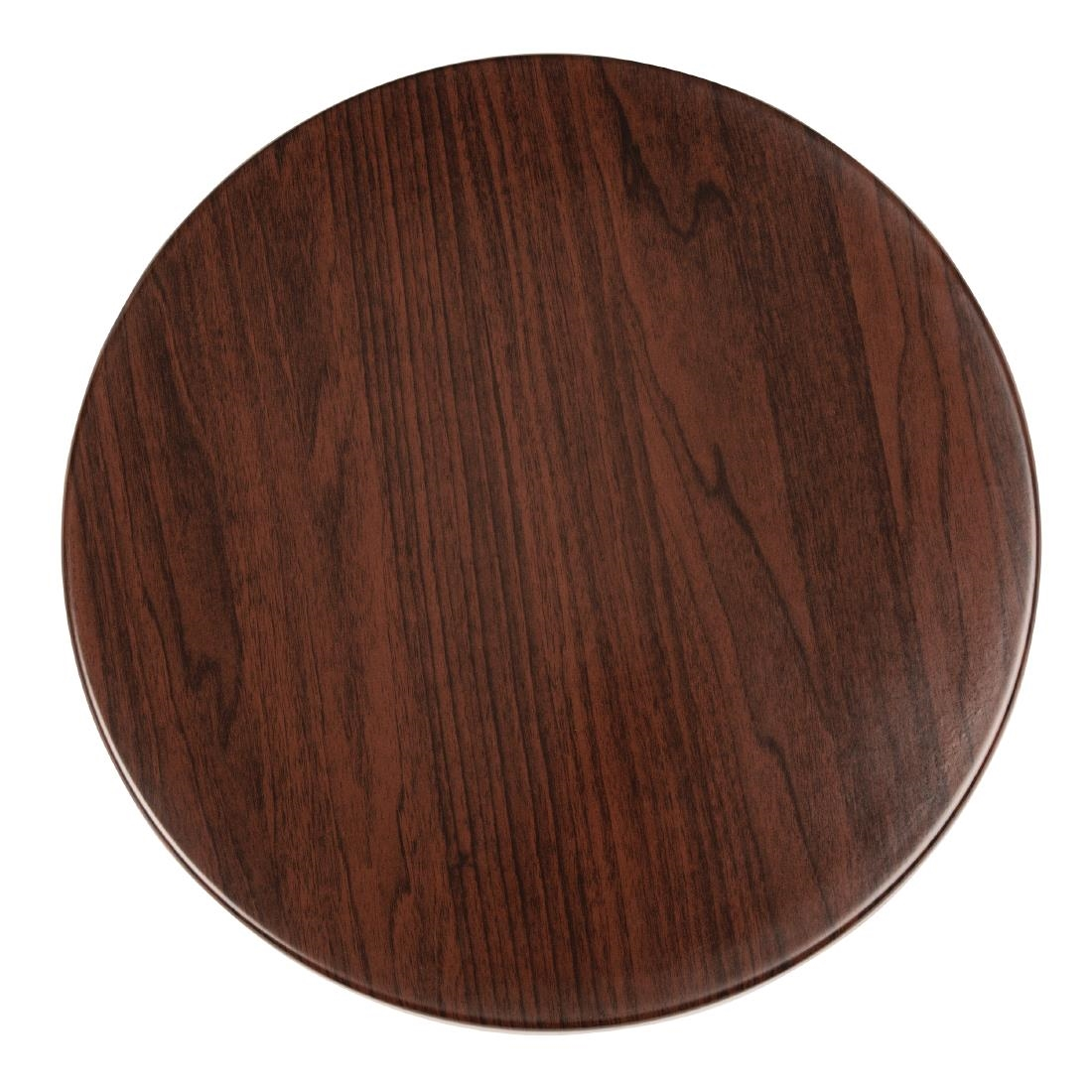 Pre Drilled Round Table Tops Dark Brown