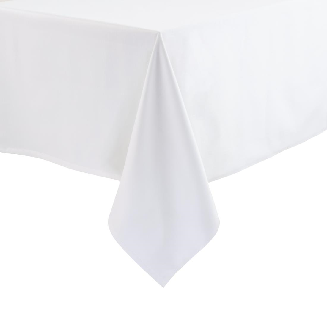 Image of Rectangular Polycotton Tablecloth White 54 x 70in