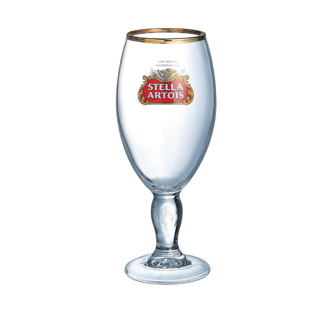 Image of Arcoroc Stella Artois Chalice Beer Glasses 570ml (Pack of 24) Pack of 24