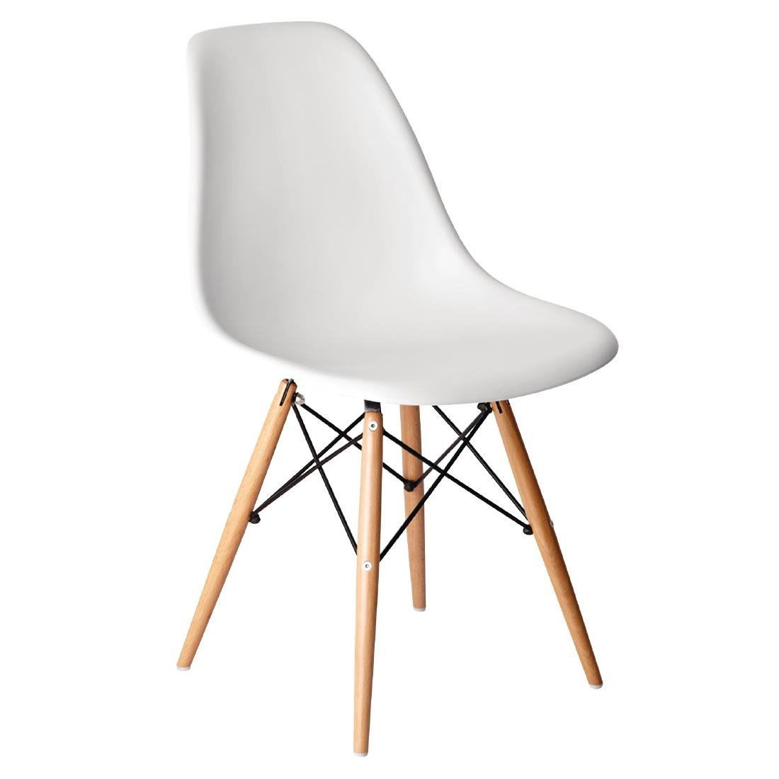 Remarkable Bolero White Polypropylene Replica Eames Chairs Pack Of 2 Ibusinesslaw Wood Chair Design Ideas Ibusinesslaworg