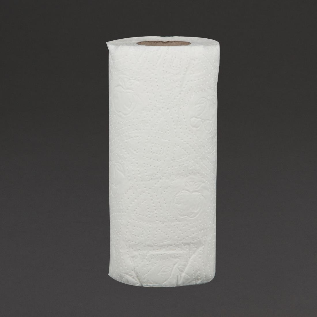 Image of Jantex Kitchen Rolls White 2-Ply 11.5m (Pack of 24) Pack of 24