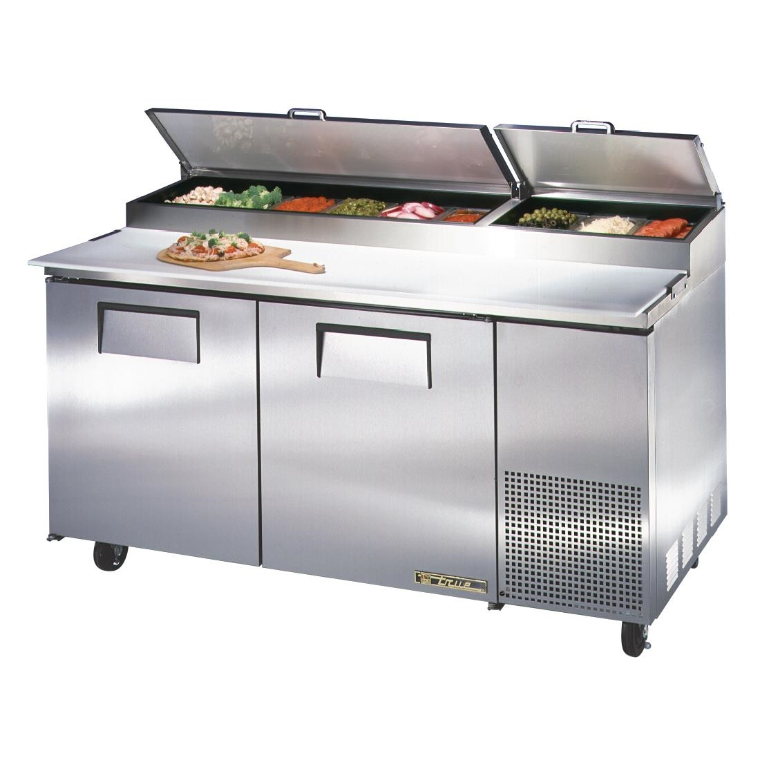 True Pizza Prep Table Door Stainless Steel GHA Buy Online - True refrigerated prep table
