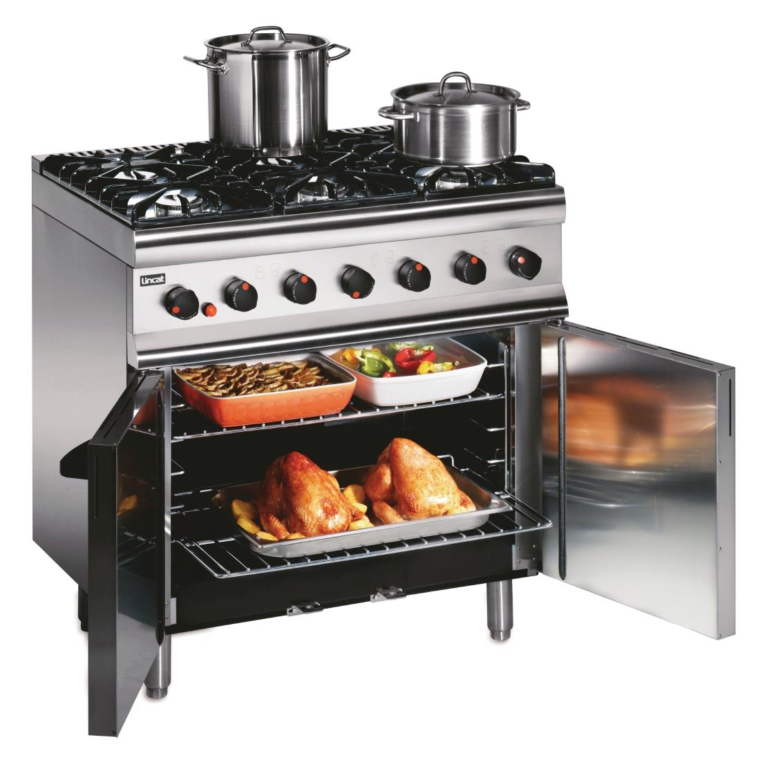 Click to view product details and reviews for Lincat Silverlink 600 Propane Gas 6 Burner Oven Range With Rear Castors Slr9c P.