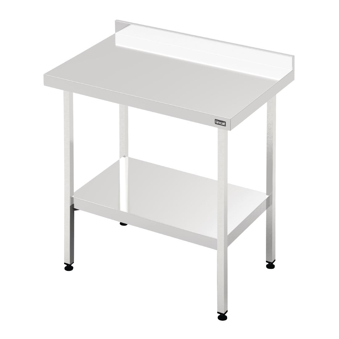 Image of Lincat 600 Series Stainless Steel Wall Table with Undershelf 1200mm