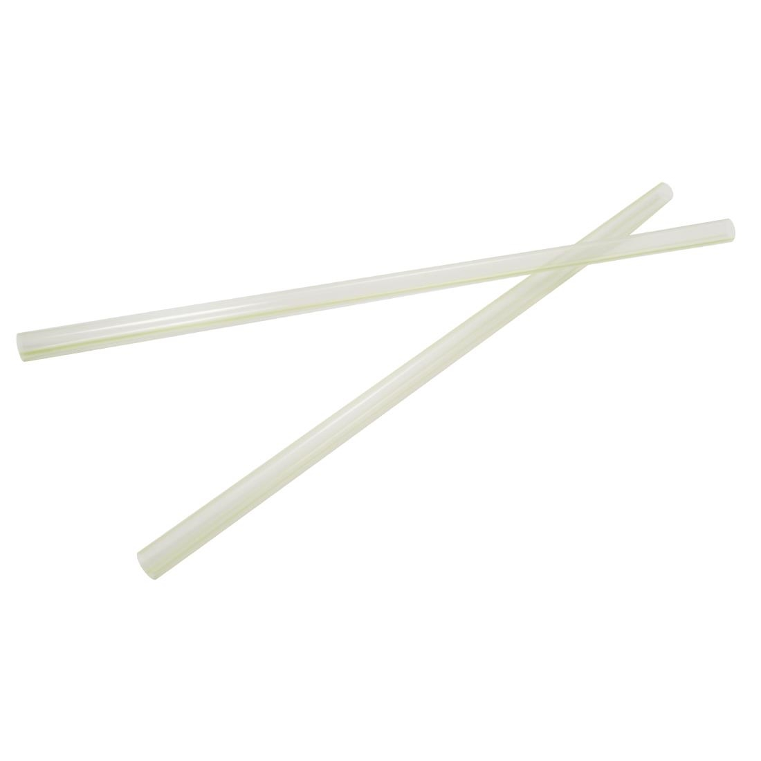 Vegware Compostable PLA Jumbo Straws Green Stripes Pack of 4800