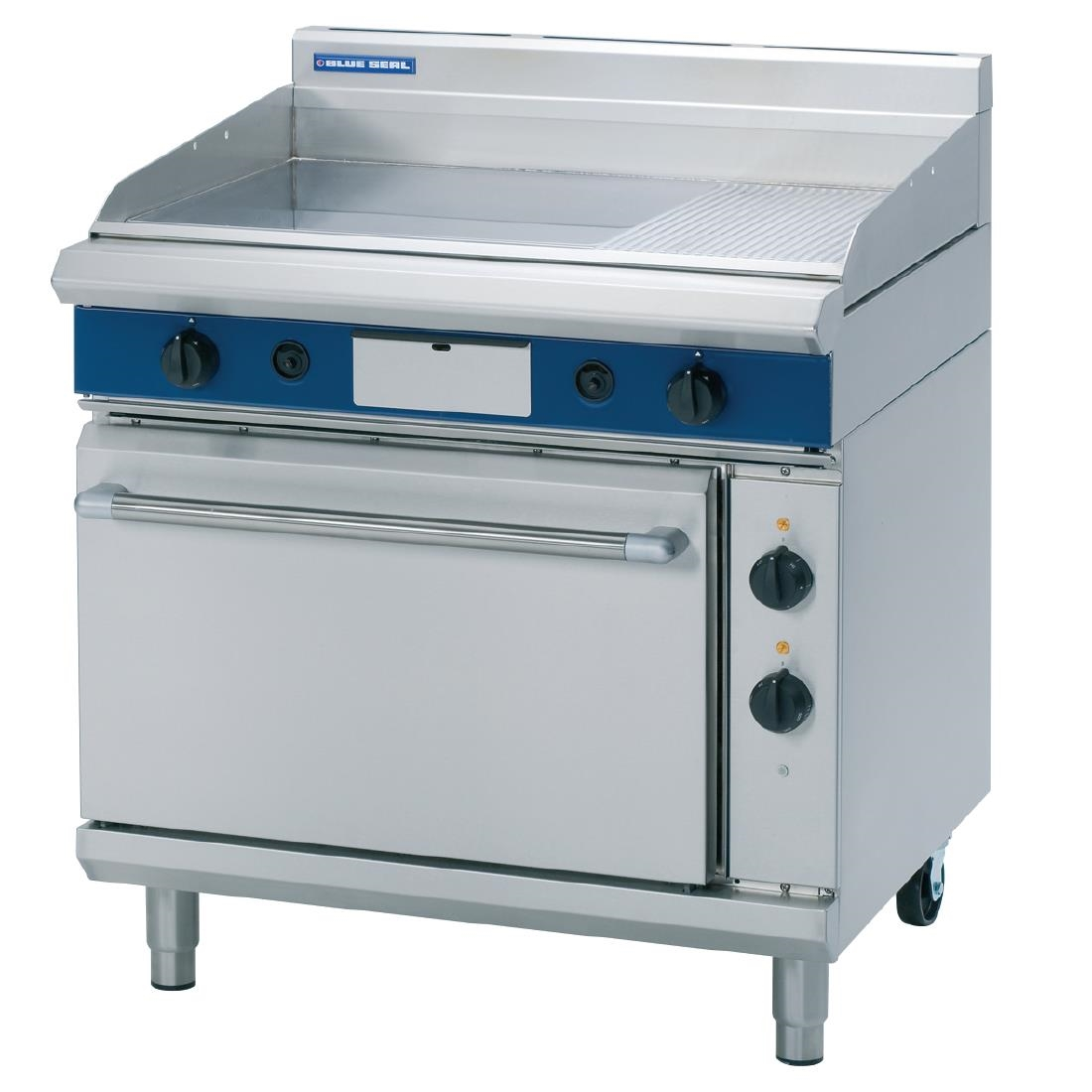 Image of Blue Seal Evolution LPG Gas 1/3 Ribbed Chrome Griddle Electric Static Oven Nat Gas GPE506/L