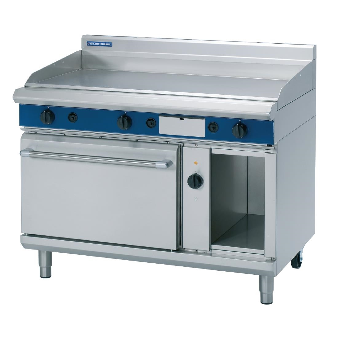 Image of Blue Seal Evolution LPG Chrome Griddle Electric Convection Oven 1200mm GPE58/L
