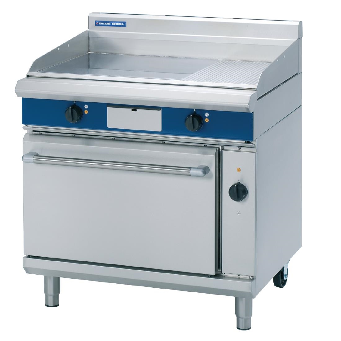 Image of Blue Seal Evolution Chrome 1/3 Ribbed Griddle Convection Oven Electric 900mm EPE56