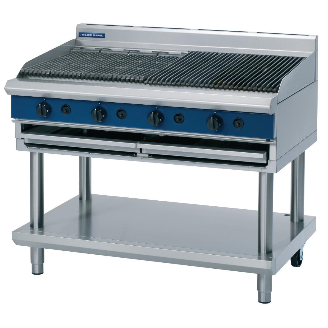 Click to view product details and reviews for Blue Seal Evolution Chargrill With Leg Stand Lpg 1200mm G598 Ls L.