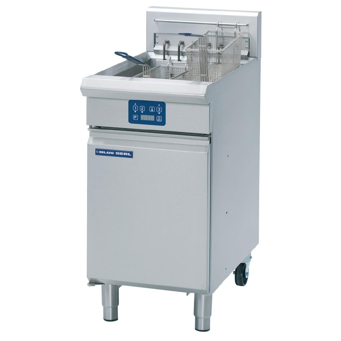 Blue Seal Single Tank Twin Basket Free Standing Electric Fryer E43E