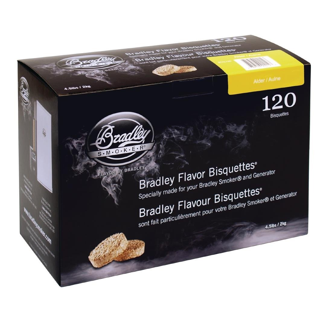Click to view product details and reviews for Bradley Alder Bisquettes 120 Pack.