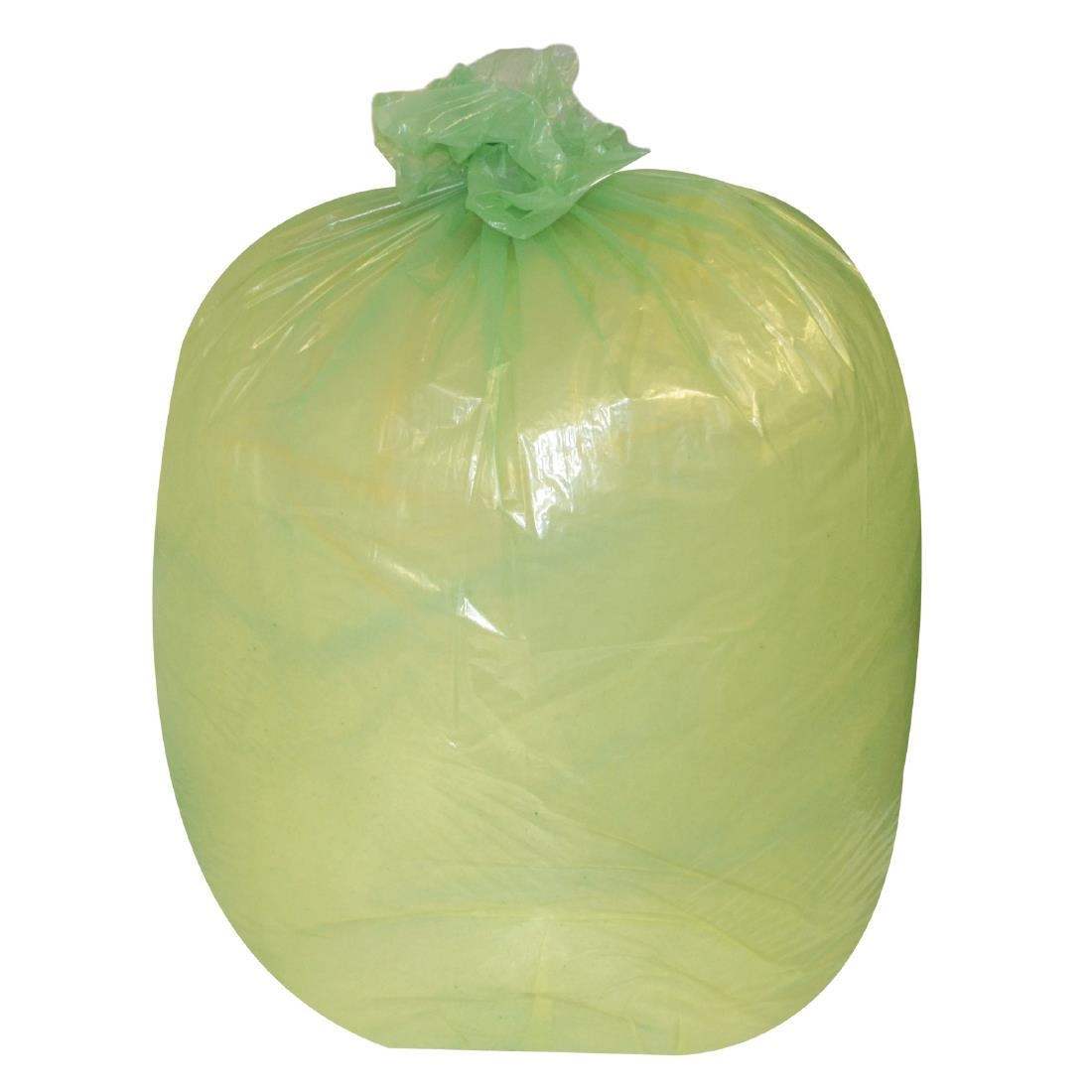 Image of Jantex Large Medium Duty Green Bin Bags 90Ltr (Pack of 200) Pack of 200