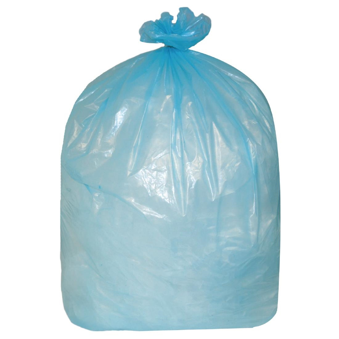 Image of Jantex Large Medium Duty Blue Bin Bags 90Ltr (Pack of 200) Pack of 200
