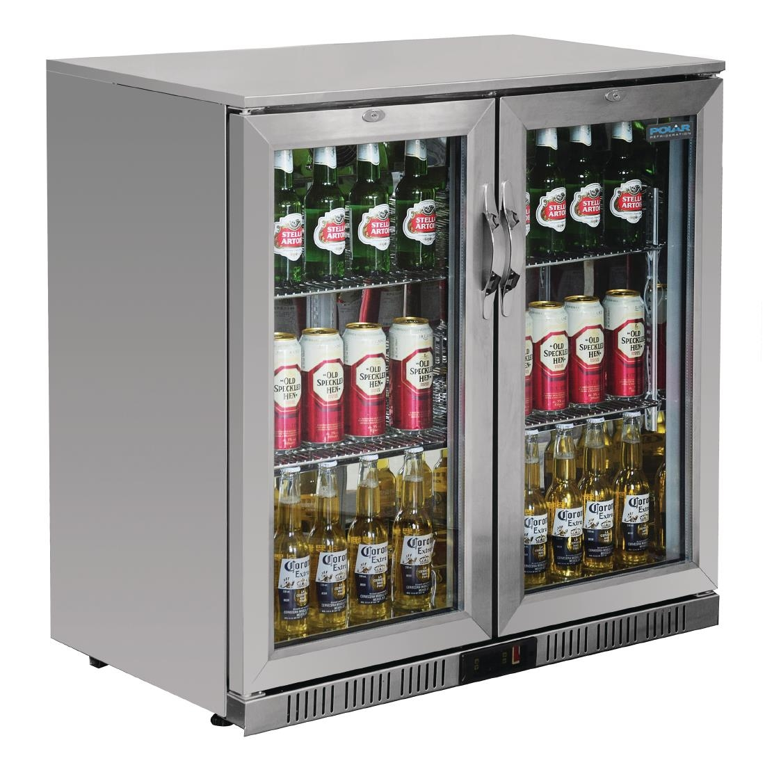 Commercial Polar Back Bar Cooler With Hinged Doors In Stainless Steel 208ltr