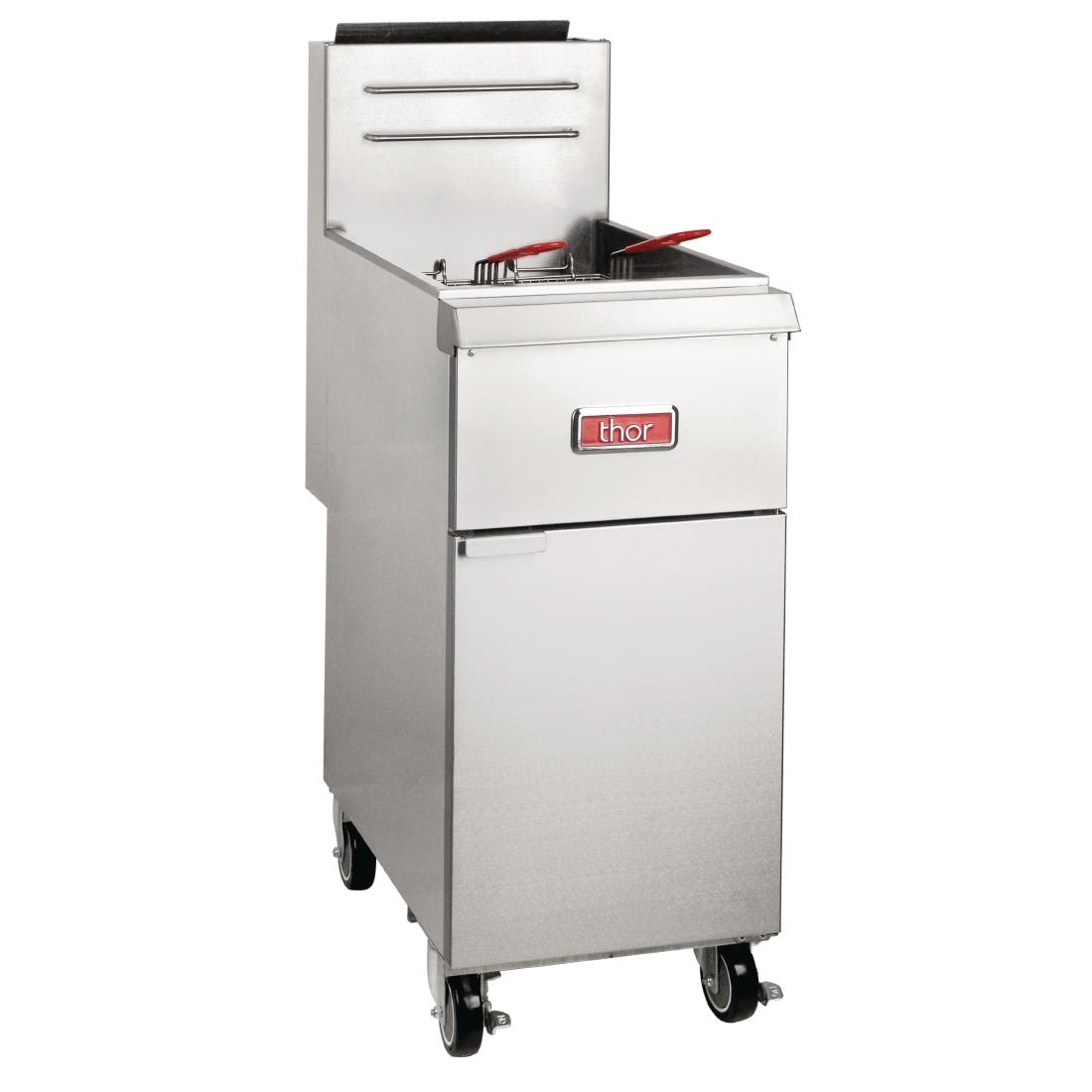 Thor Single Tank Twin Basket Free Standing Natural Gas Fryer 20Ltr