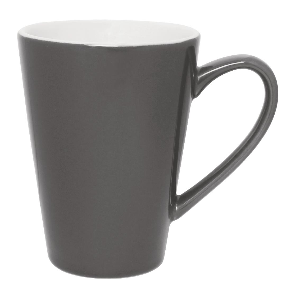 Olympia Cafe Latte Cups Charcoal 454ml Pack Of 12