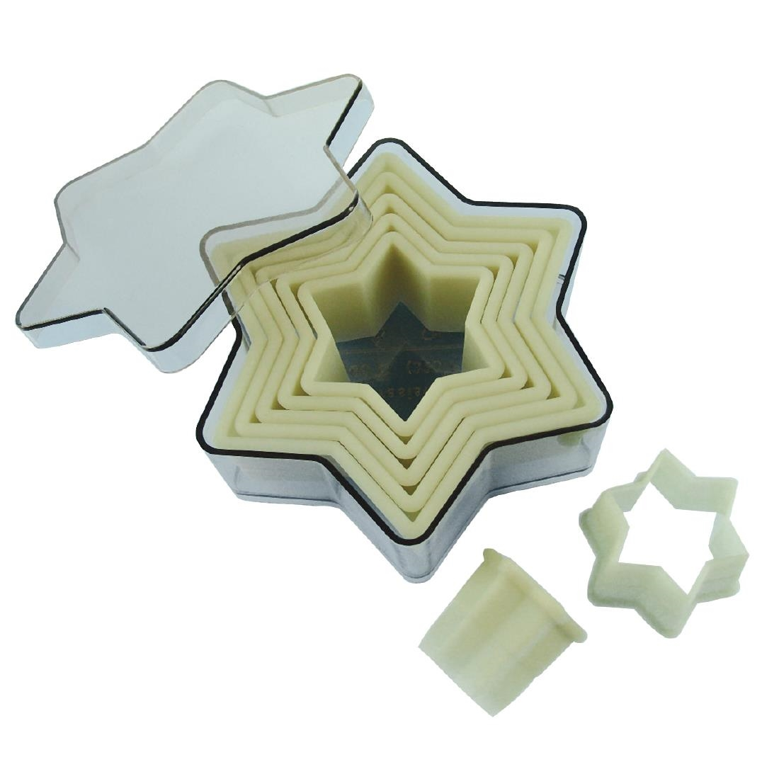 De Buyer Plain Star Pastry Cutters Set of 7 Pack of 7