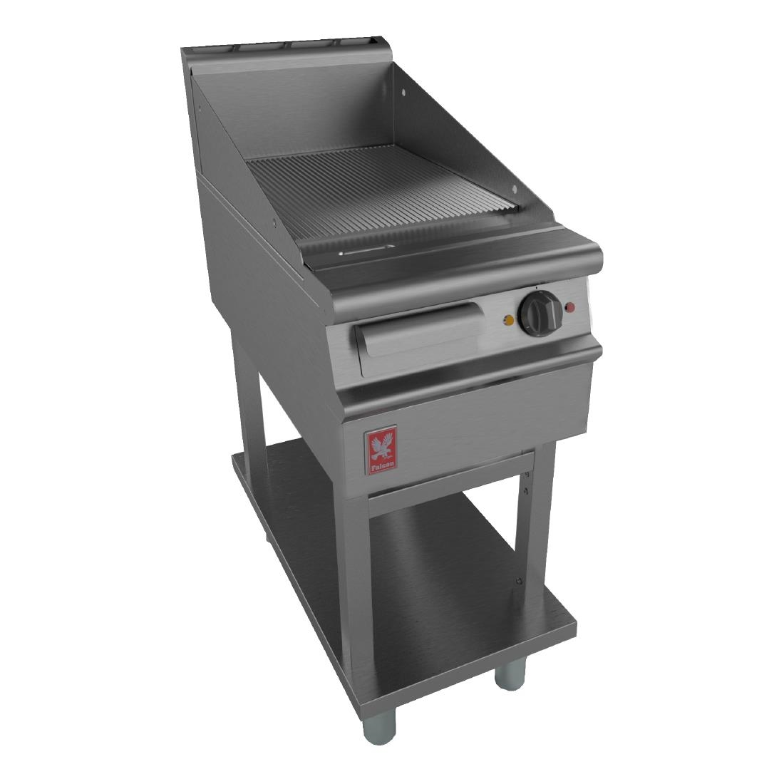 Image of Dominator Plus 400mm Wide Ribbed Griddle on Fixed Stand E3441R