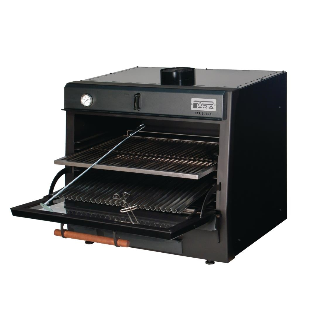 Pira 90 LUX Charcoal Oven Black