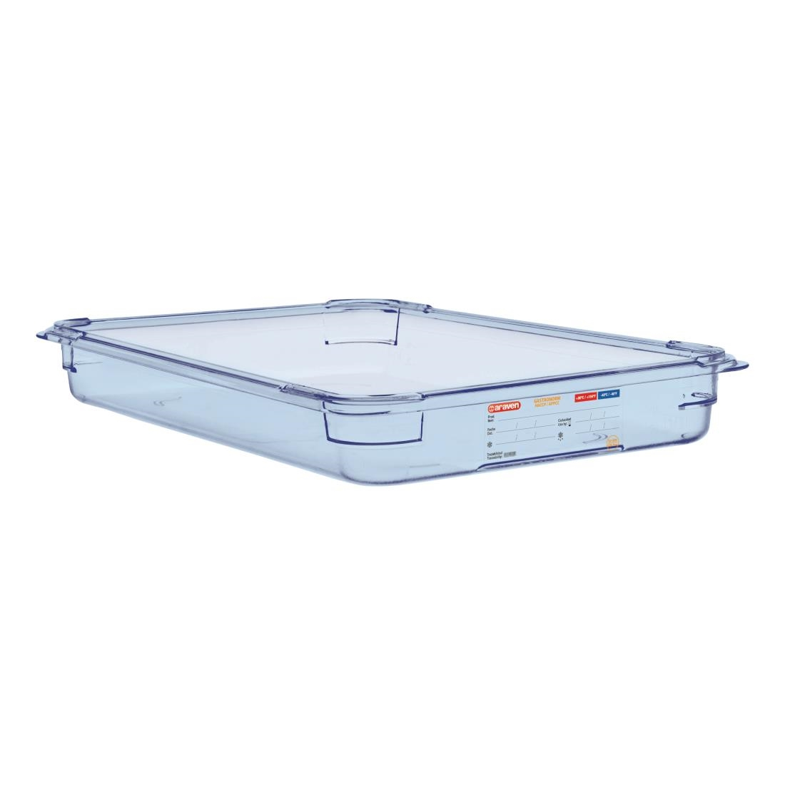Image of Araven ABS Food Storage Container Blue GN 1/1 65mm