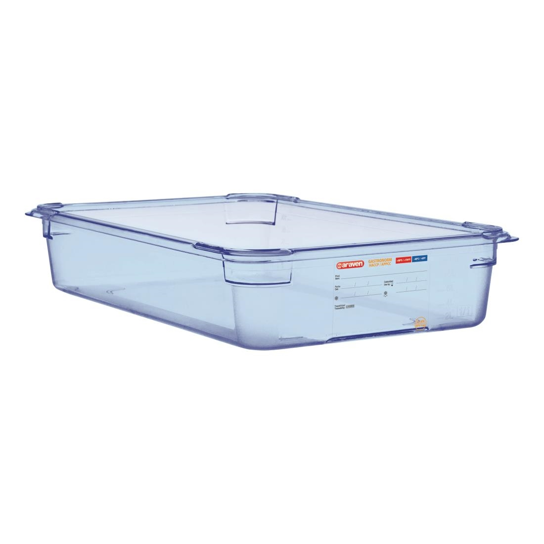 Image of Araven ABS Food Storage Container Blue GN 1/1 100mm