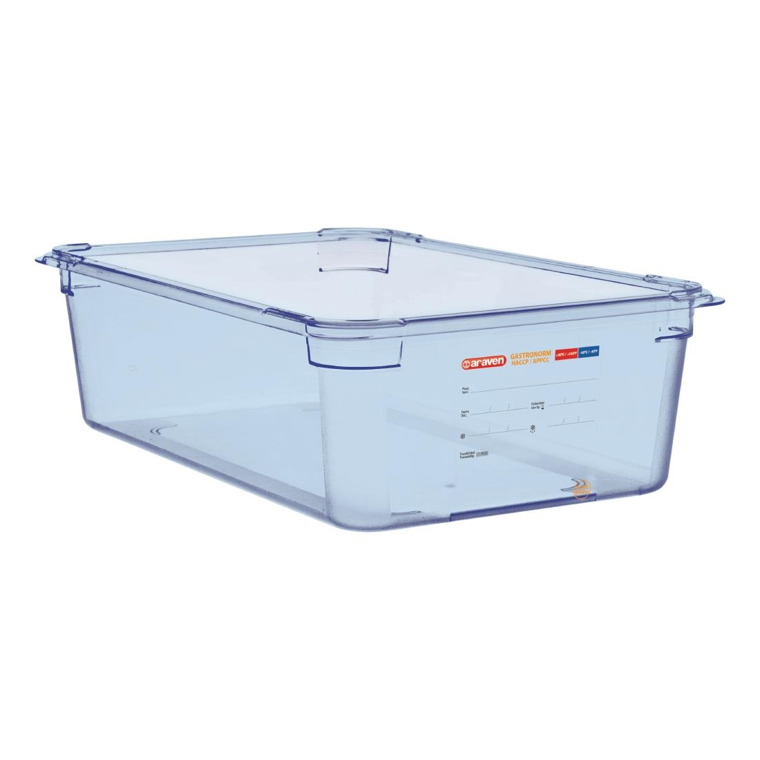 Image of Araven ABS Food Storage Container Blue GN 1/1 150mm
