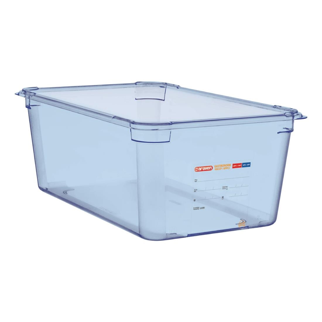 Image of Araven ABS Food Storage Container Blue GN 1/1 200mm