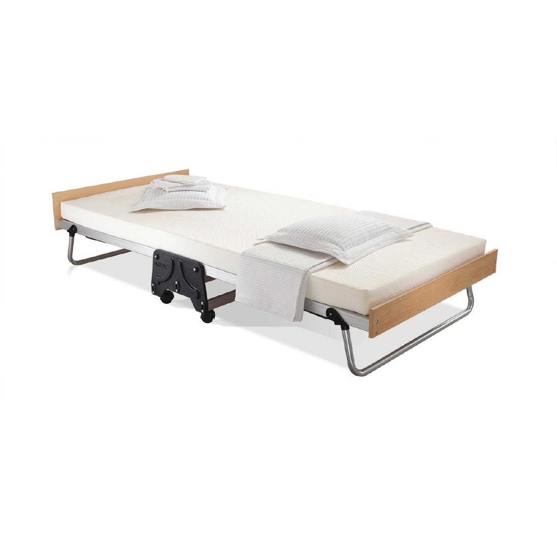 Image of Jay-Be Contract Folding Bed with Memory Foam Mattress Single in Silver Colour