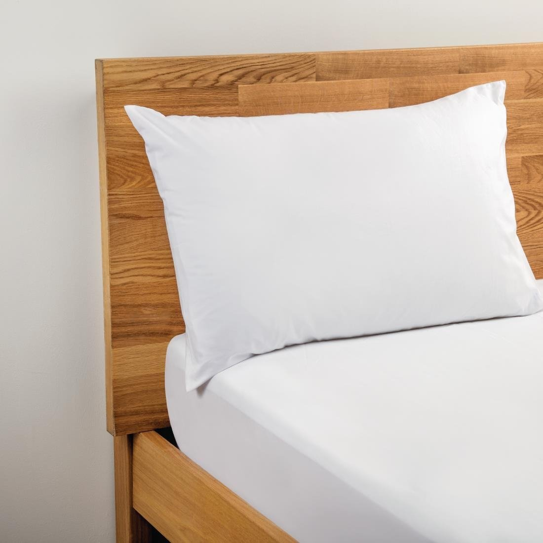 Image of Mitre Comfort Percale Housewife Pillowcase White Pack of 2