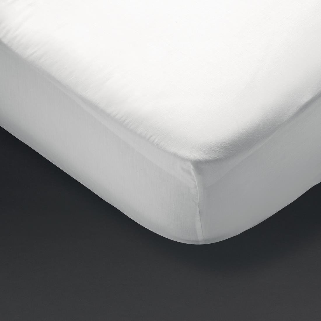 Mitre Essentials Spectrum Fitted Sheet White Bunk