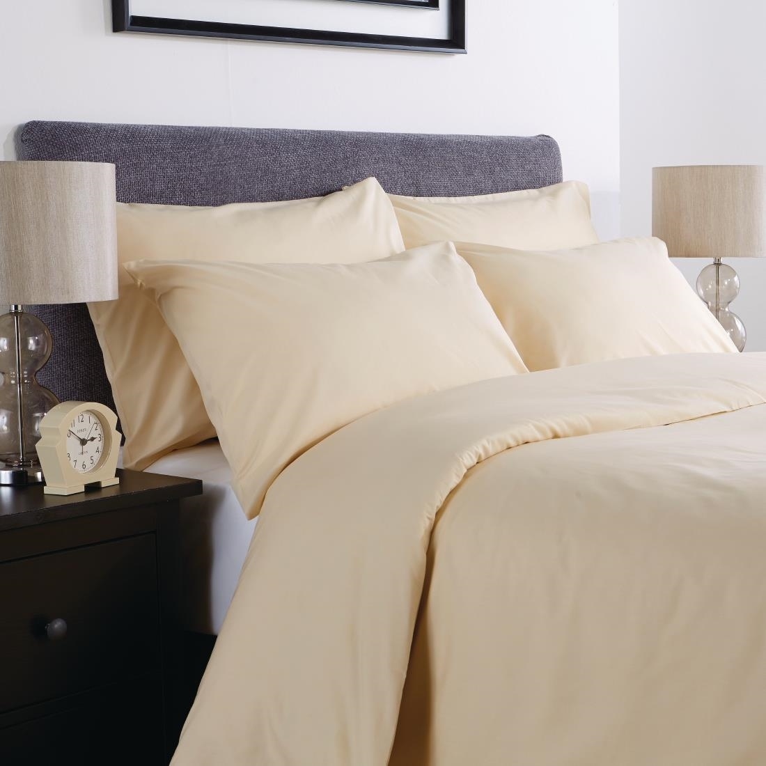 Image of Mitre Comfort Percale Duvet Cover Oatmeal King Size