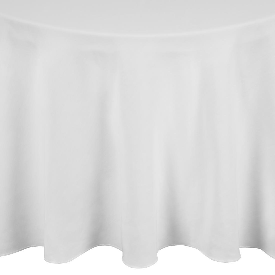 Incredible Occasions Round Tablecloths White Beutiful Home Inspiration Ommitmahrainfo