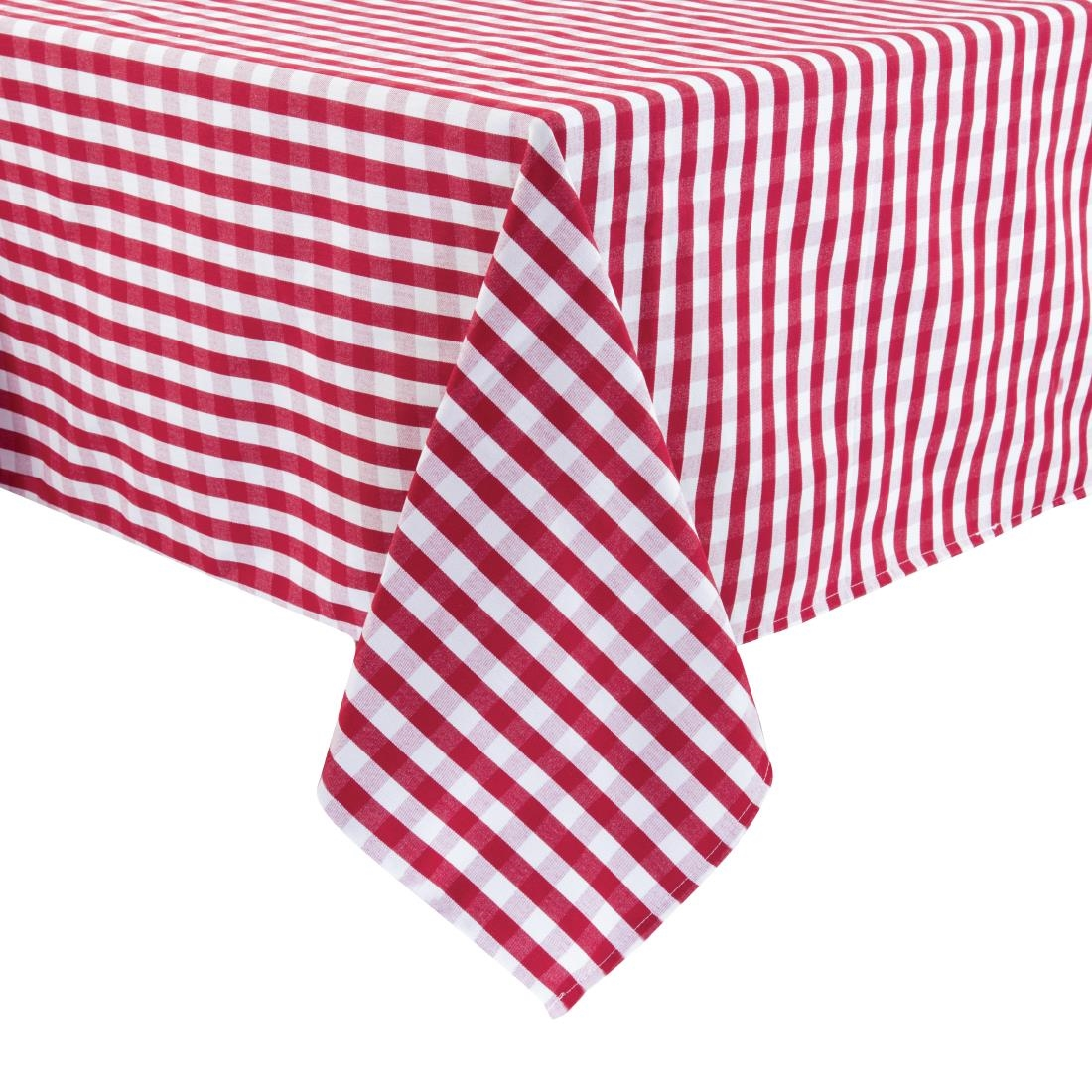 Image of Gingham Tablecloth Red 890 x 890mm