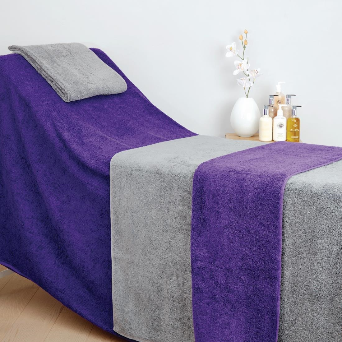 Image of Mitre Comfort Enigma Massage Couch Cover Purple