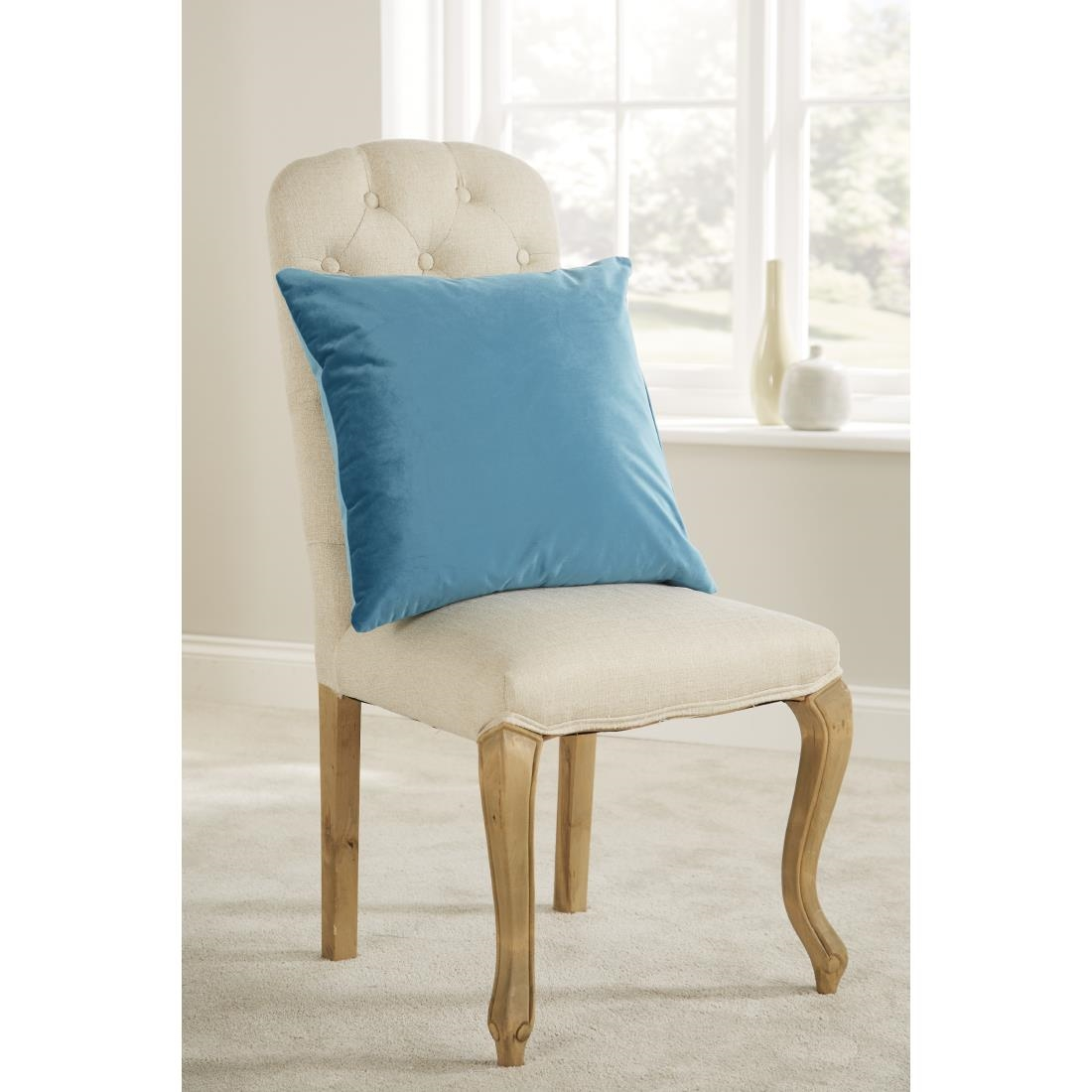 Image of Mitre Comfort DArcy Unpiped Cushion Teal