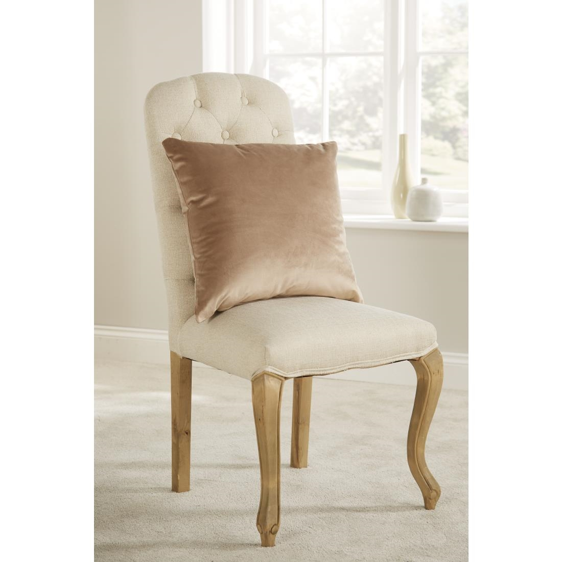 Image of Mitre Comfort DArcy Unpiped Cushion Biscuit
