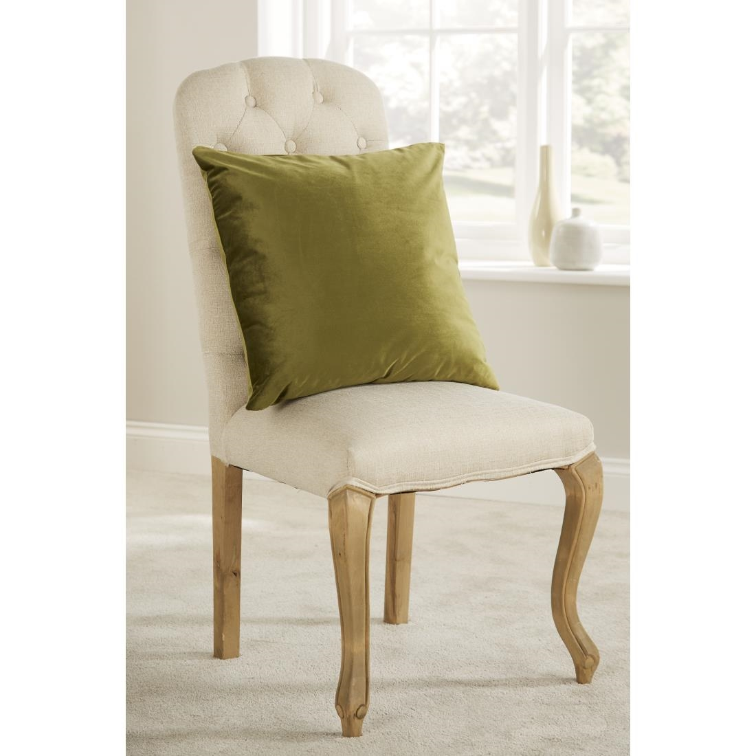 Image of Mitre Comfort DArcy Unpiped Cushion Olive