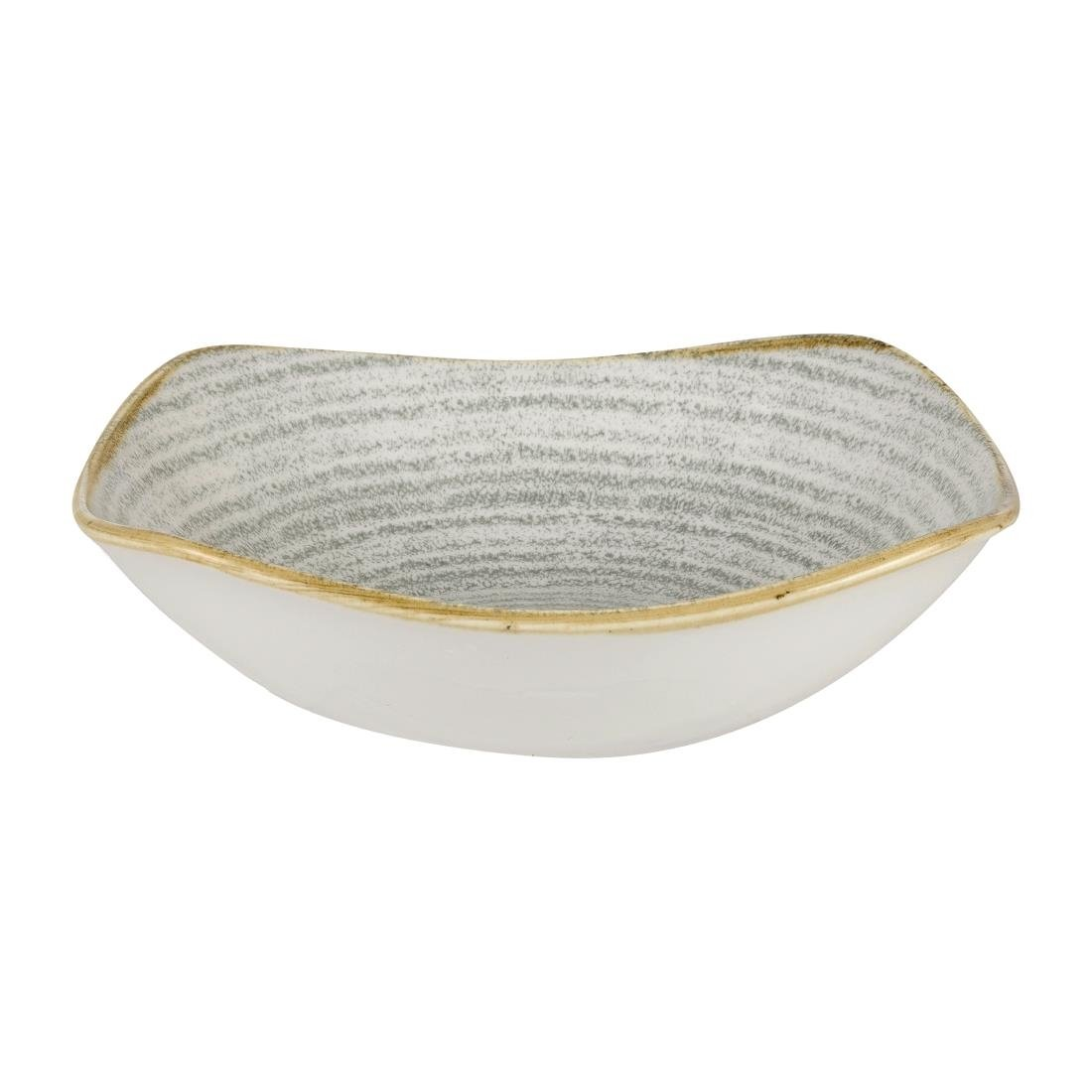 Click to view product details and reviews for Churchill Studio Prints Homespun Square Bowls Stone Grey 175mm Pack Of 12.