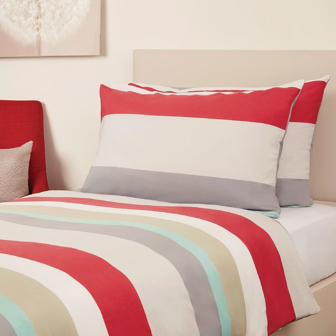Click to view product details and reviews for Mitre Essentials Skye Double Bedding Set Red.