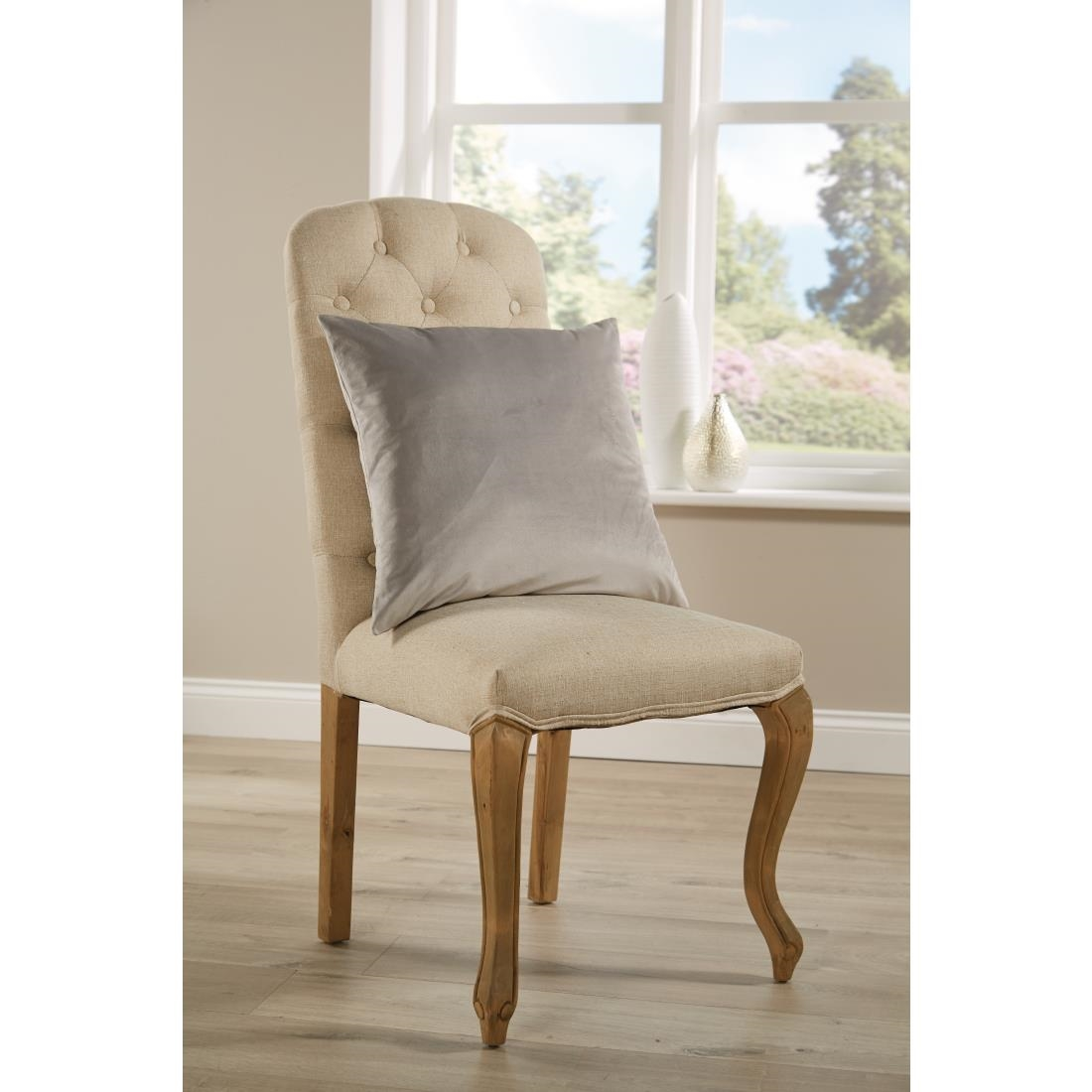 Image of Mitre Comfort DArcy Unpiped Cushion Silver
