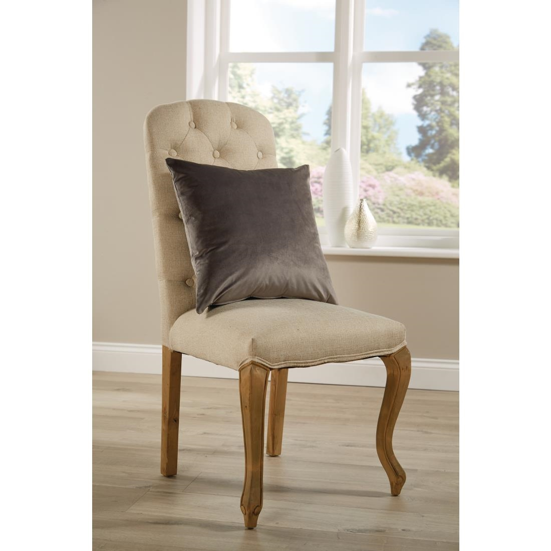 Image of Mitre Comfort DArcy Unpiped Cushion Steel