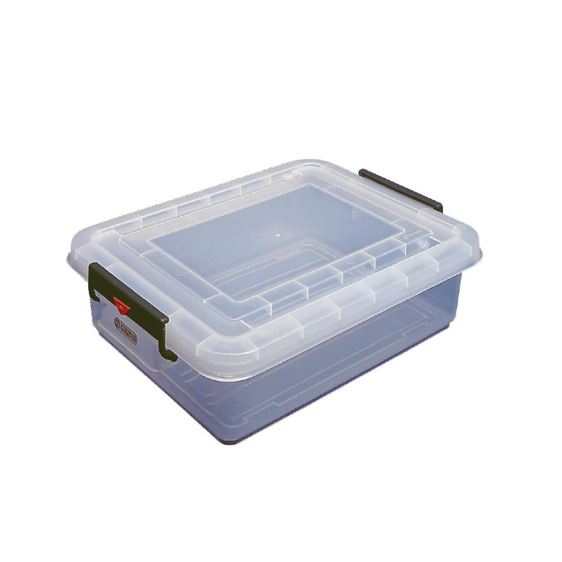 avaven food storage box with lids colour coded clips p j243