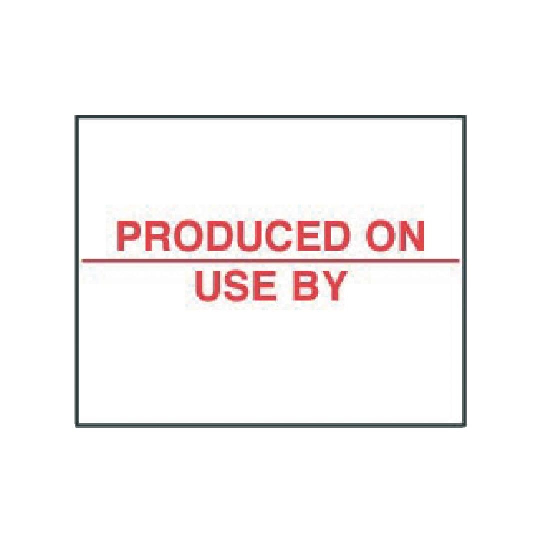 Image of Produced On Labels (Pack of 14000) Pack of 14000