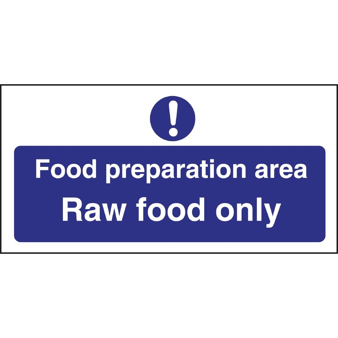 vogue food preparation area raw food only sign l buy online browse our full vogue range